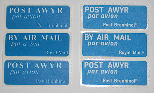 airmail stickers